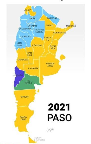 El mapa de las PASO: quiénes ganaron las elecciones provincia por provincia  - Noti news